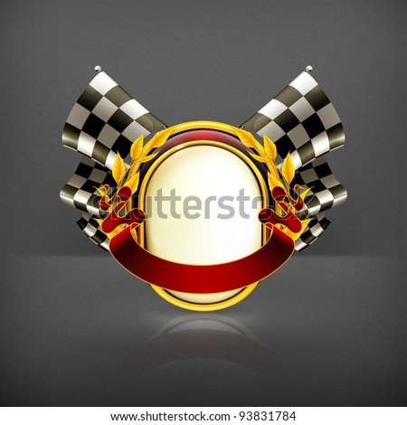 Racing emblem, 10eps - stock vector