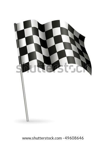 Racing Flag, vector - stock vector