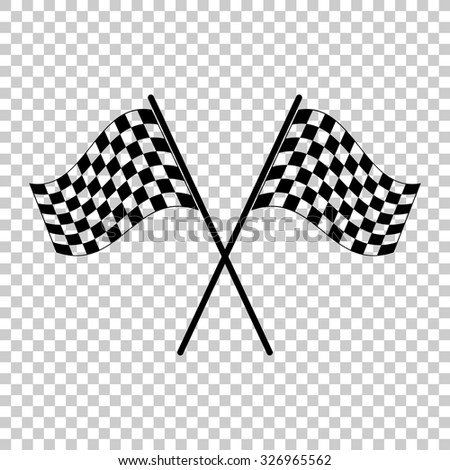 racing flag vector icon - black illustration - stock vector
