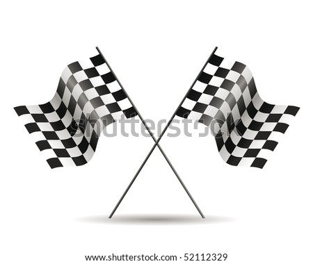 racing flags isolated on white