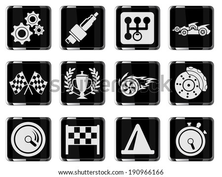 Racing icons - stock vector