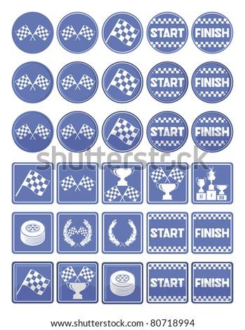 Racing icons, vector - stock vector