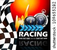 Racing poster vector illustration - stock photo