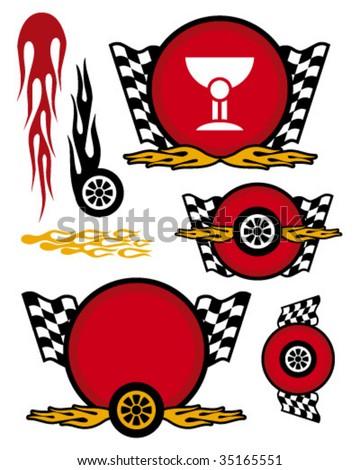 racing team logo - stock vector