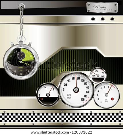 Racing urban background - stock vector