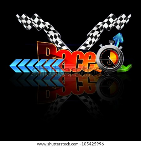 Racing vector illustration - stock vector