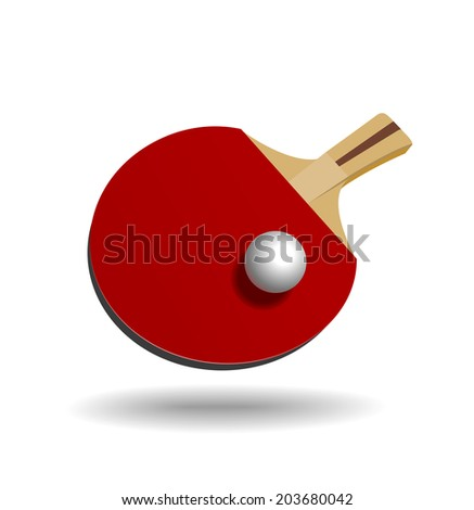 Racket for table tennis. Illustration on white background - stock vector