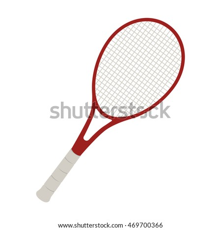 racket tennis game sport sign net professional vector  isolated illustration