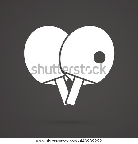 Rackets for playing ping pong table tennis graphic vector. - stock vector