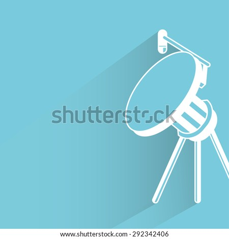 radar dish - stock vector