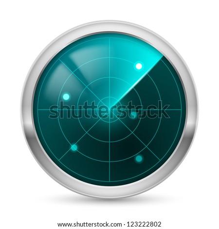 Radar icon. Illustration white background for design - stock vector