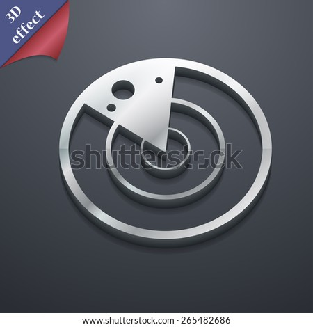 radar  icon symbol. 3D style. Trendy, modern design with space for your text Vector illustration - stock vector