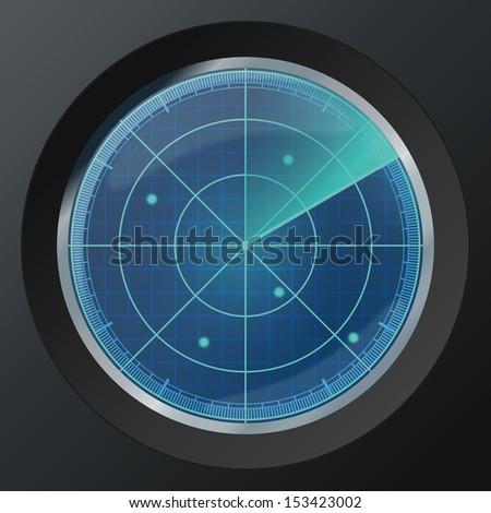 Radar icon. Vector illustration - stock vector