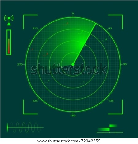 Radar localization eps10 - stock vector