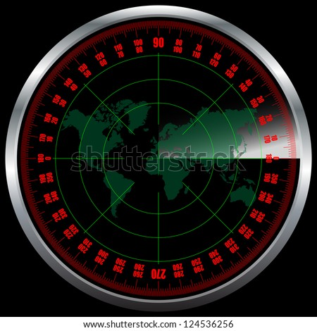 Radar screen - stock vector