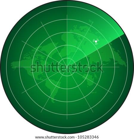 radar screen. eps10 - stock vector