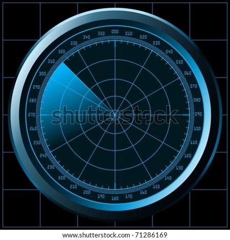 Radar screen (or sonar) - vector - stock vector