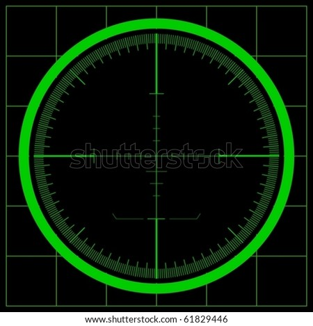 Radar screen (vector) - stock vector