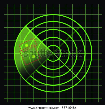 Radar screen - vector - stock vector