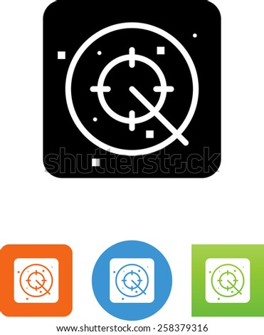Radar symbol for download. Vector icons for video, mobile apps, Web sites and print projects.  - stock vector