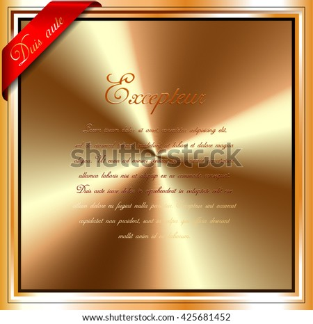 radial brushed gold vector background - stock vector