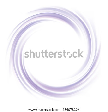 Radial rippled curvy fond with space for text in white center. Fluid indigo creme surface. Milk yogurt of juicy fruits light lavender color: grape, currant, mulberry, bilberry - stock vector