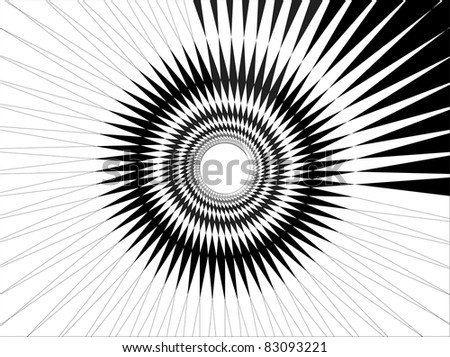 Radial twisted web - stock vector