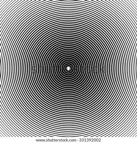 Radiating, concentric circle background, pattern. Editable eps 10 vector illustration - stock vector