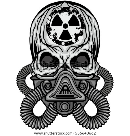 radiation coat arms skull gas mask stock vector 556640662 shutterstock rh shutterstock com Gold Skull Mask Skull Gas Mask