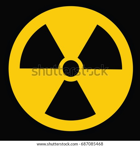 Radiation Danger Vector Pictogram Ionizing Radiation Hazard Stock