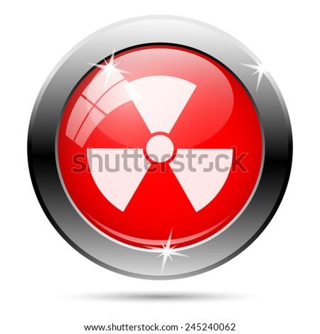 Radiation icon. Internet button on white background.  - stock vector