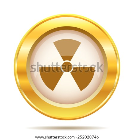 Radiation icon. Internet button on white background. EPS10 vector.  - stock vector