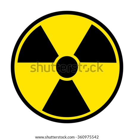 Radiation Round Sign isolated on white background. Vector illustration