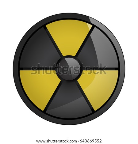 Radiation Round Sign isolated on white background. Vector illustration.