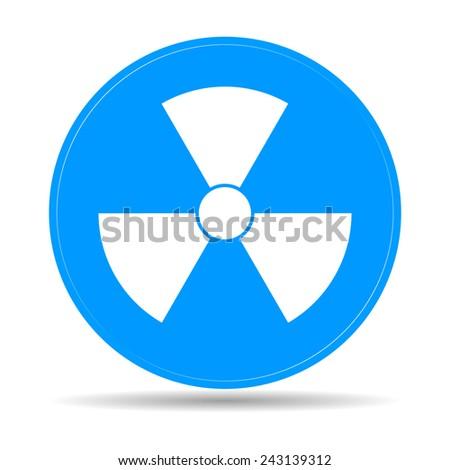 radiation symbol. Flat vector illustration - stock vector