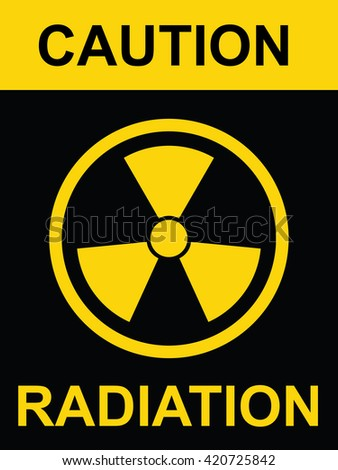Radiation symbol . Vector illustration