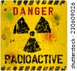Radiation warning, vector illustration - stock photo