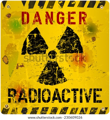 Radiation warning, vector illustration - stock vector