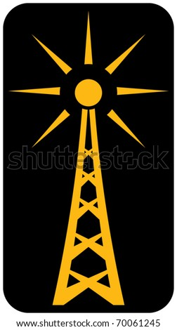 Radio antenna - stock vector