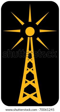 Radio antenna - stock vector