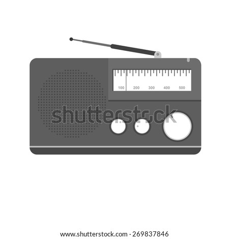 Radio, antenna, equipment icon vector image. Can also be used for communication, connection, technology. Suitable for web apps, mobile apps and print media.
