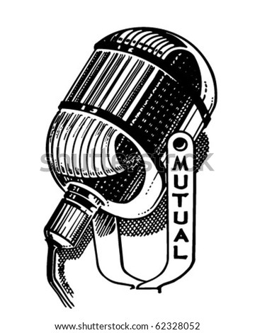 Radio Microphone Retro Clipart Illustration Stock Vector ...