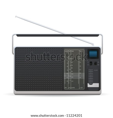 Radio on a white background - stock vector