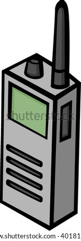 radio or police scanner - stock vector