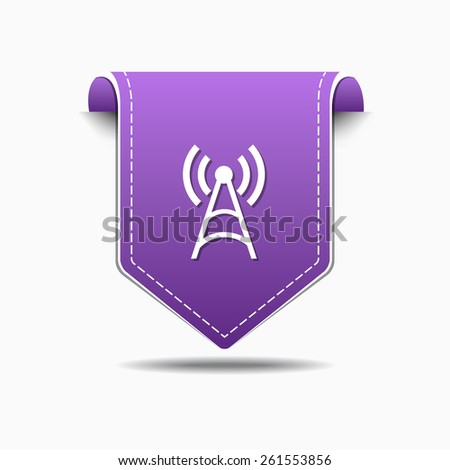 Radio Signal Purple Vector Icon Design - stock vector