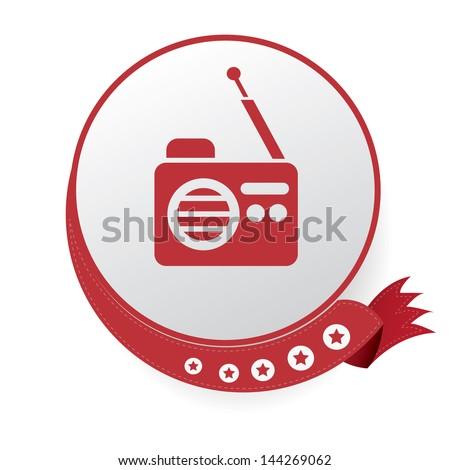 Radio symbol,vector - stock vector