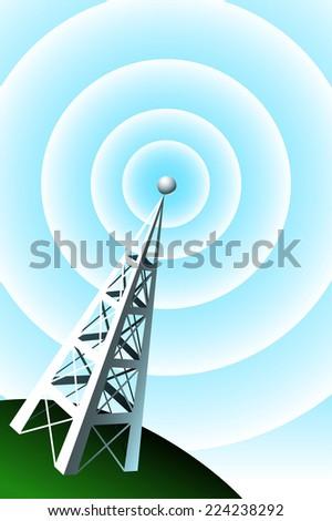 Radio Tower vector illustration - stock vector