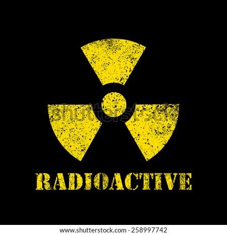 Radioactive contamination symbol - Illustration - stock vector