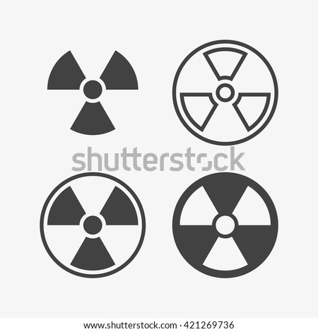 Radioactive Icon in trendy flat style isolated on grey background. Hazard symbol for your web site design, logo, app, UI. Vector illustration, EPS10. - stock vector