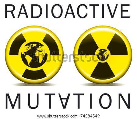 radioactive mutation world - stock vector